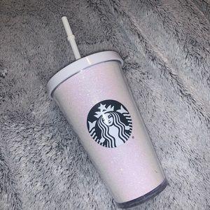 White Sparkle Starbucks Cold Cup 16oz